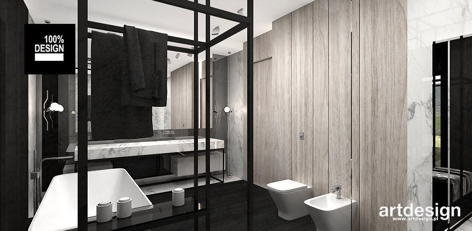 projekty nowoczesnych łazienek