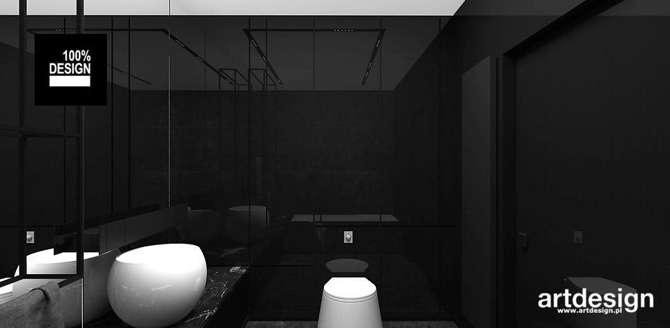 czarna łazienka wizualizacja