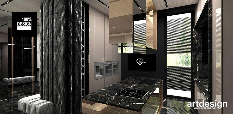 aranżacja kuchni wnętrza projekty