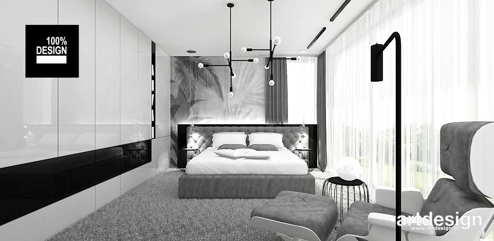 jasna sypialnia w odcieniach szarości