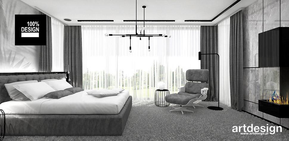nowoczesny design wnętrz sypialnia