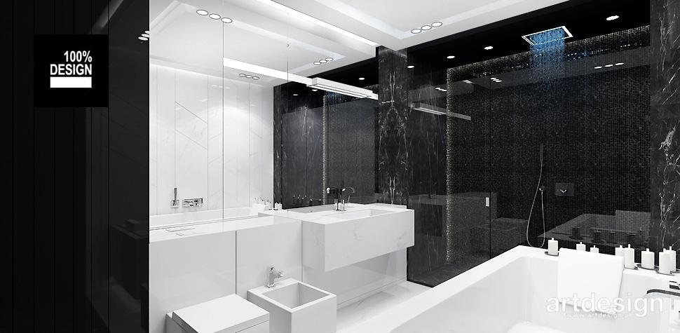 projekt łazienki z mozaika