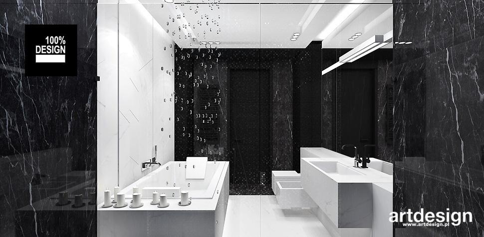projekty łazienek styl nowoczesny