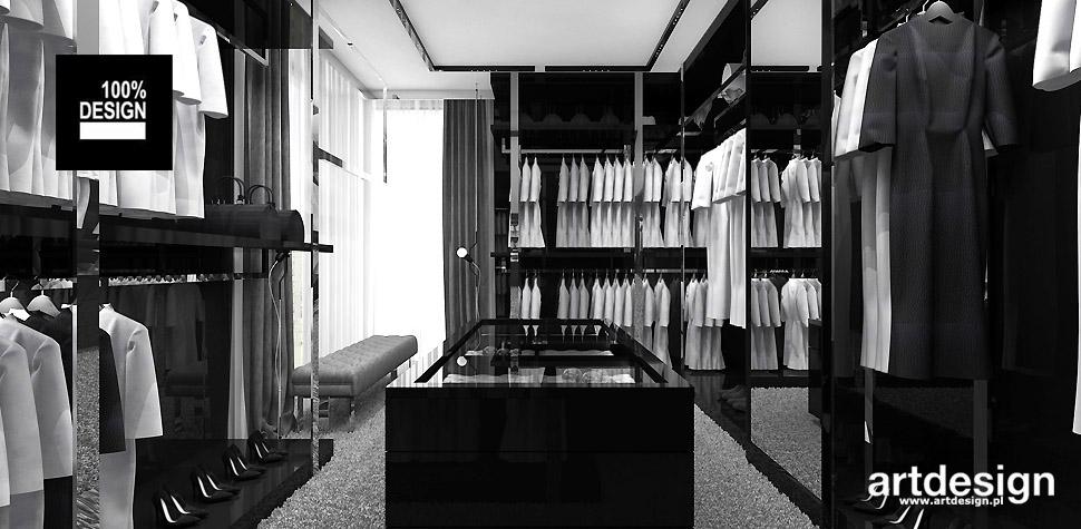 projekty wnętrz garderoba