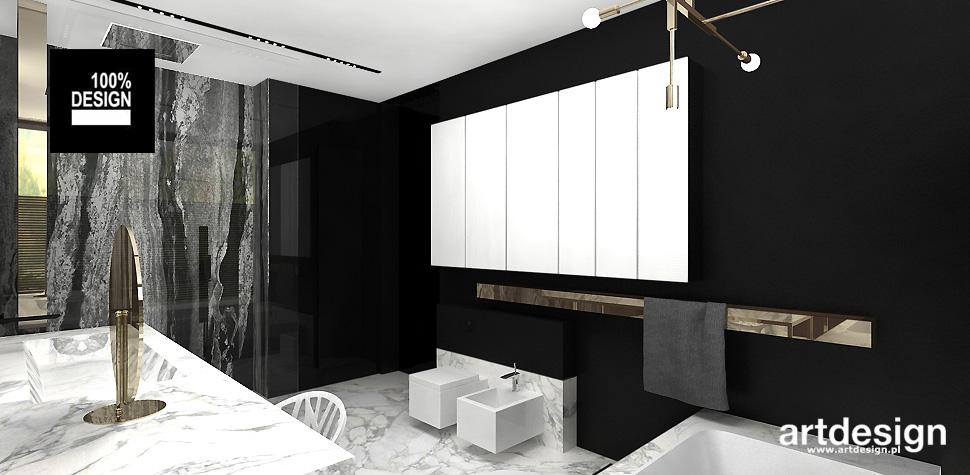 czarno-białe aranżacje łazienek