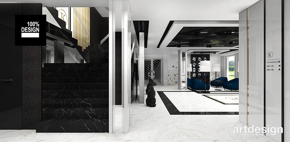 projekty wnętrz obiektów hotelowych
