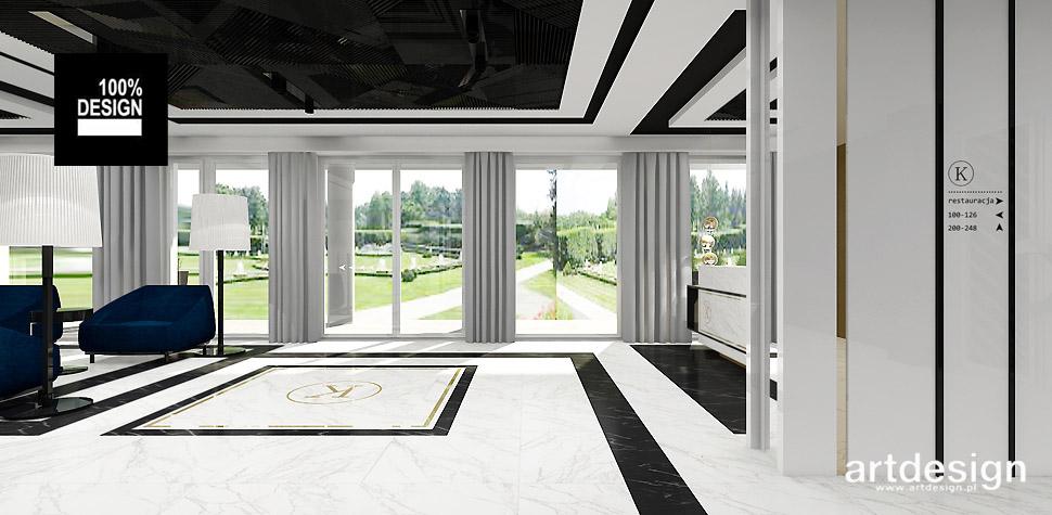 biało-czarne wnętrze hotel