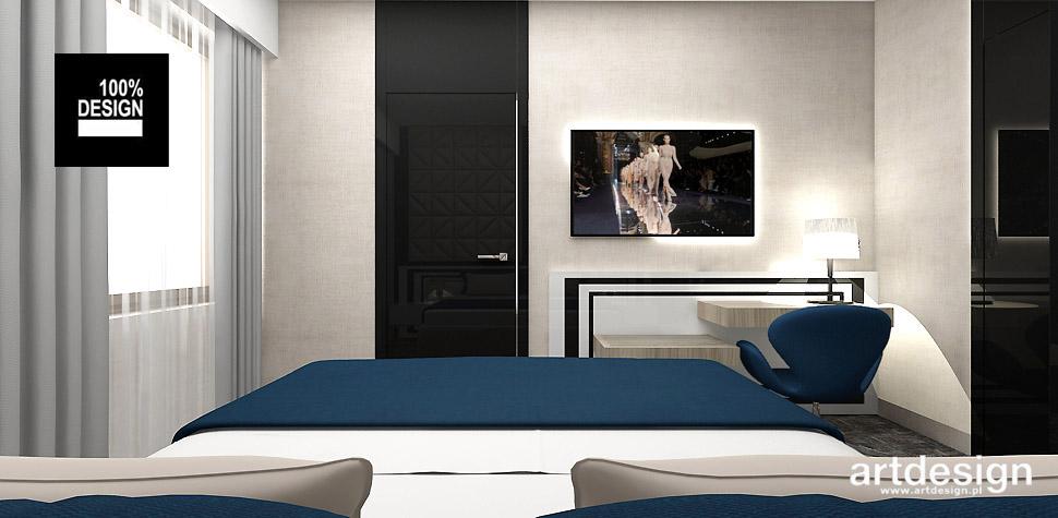 nowoczesna aranżacja pokoju hotelowego
