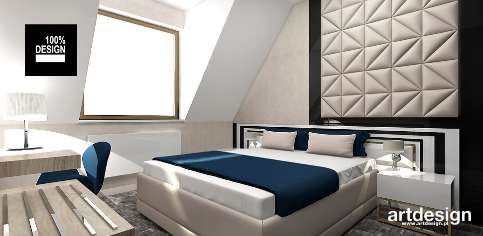 projekt pokoi hotel w Krakowie
