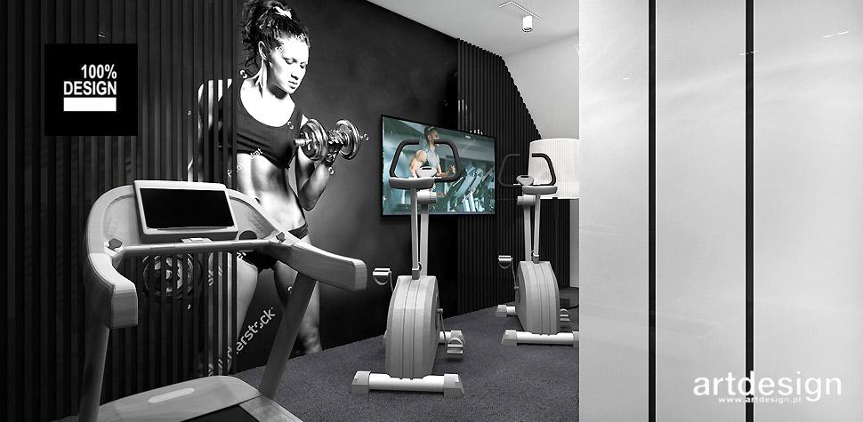projektowanie wnętrz siłownia fitness