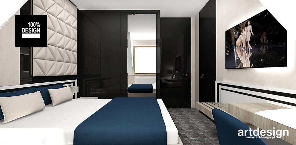projekt wnętrz hotelu pokój