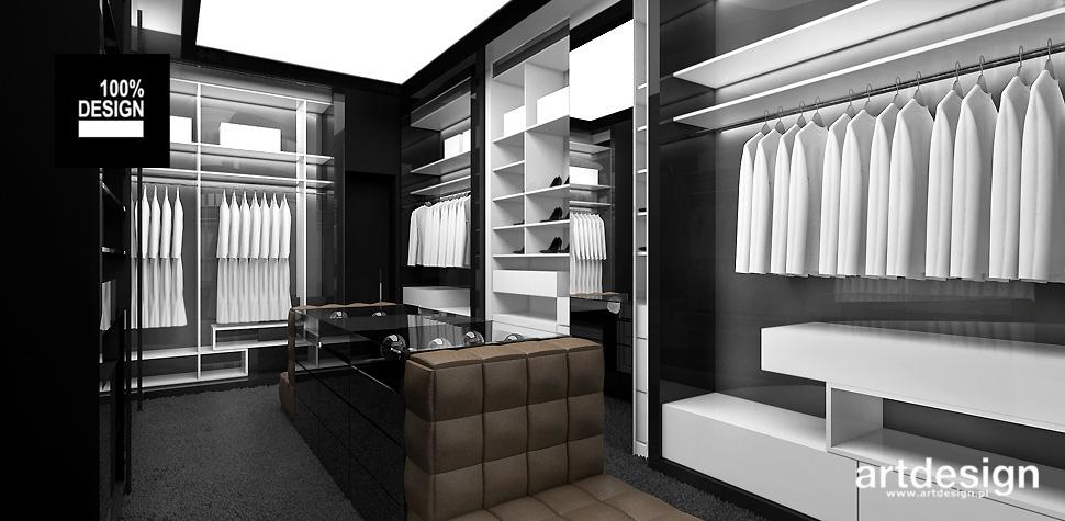 nowoczesna garderoba w domu