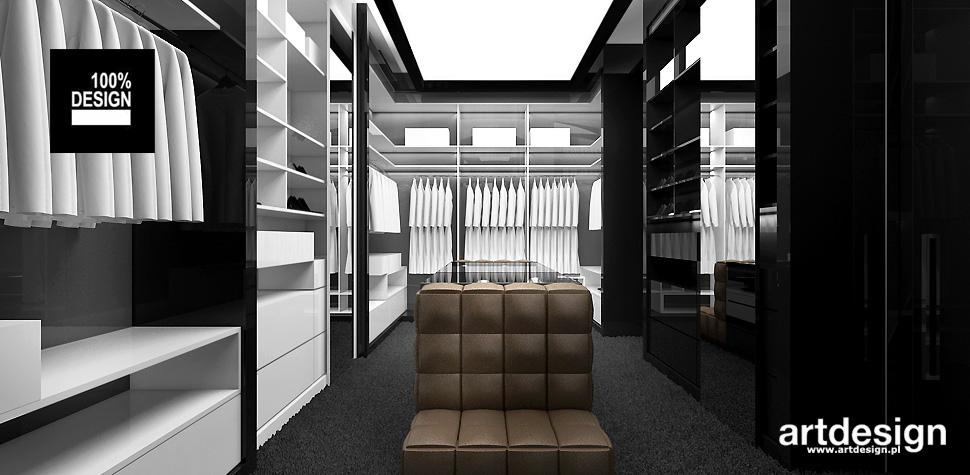 nowoczesny dom wnętrza garderoba