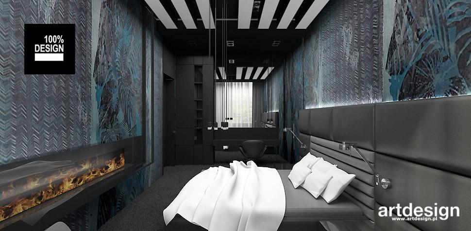 designerski projekt sypialni