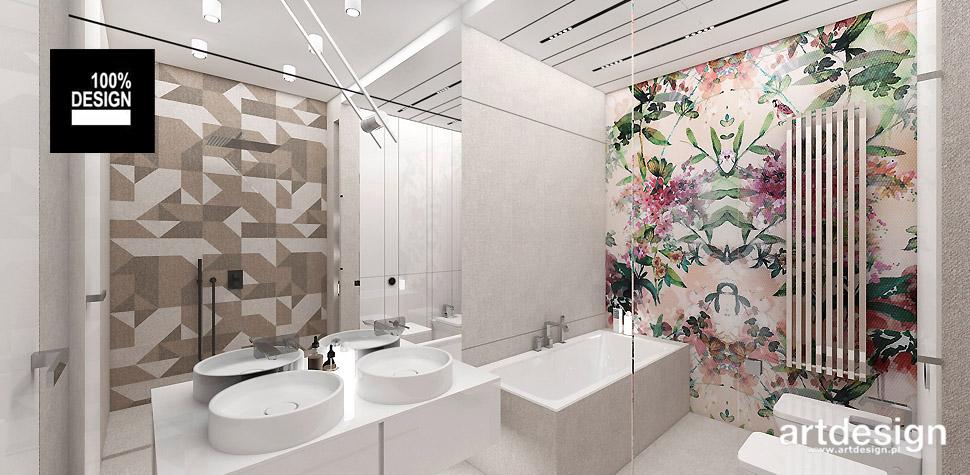 wnętrza nowoczesnej łazienki