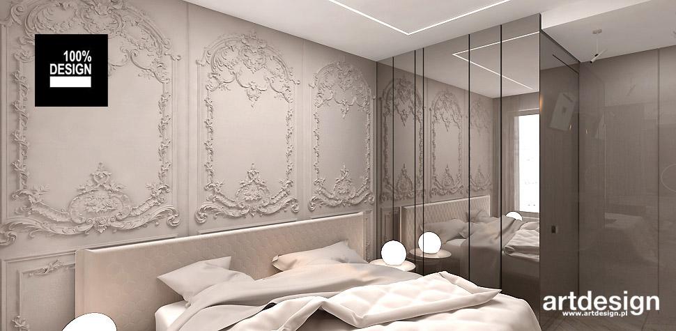 eleganckie wnętrze sypialnia