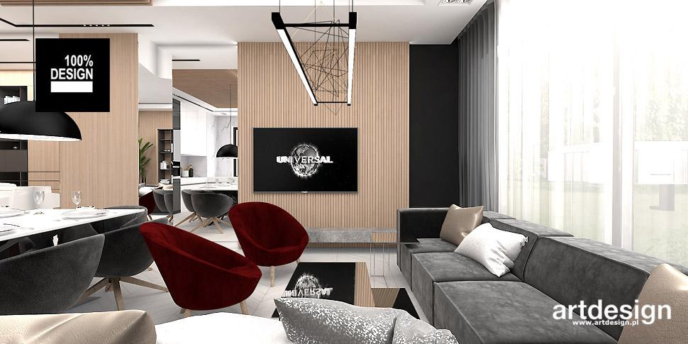 nowoczesny apartament wnętrza aranżacje