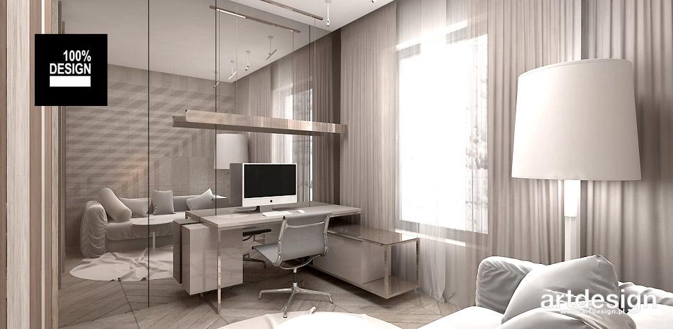 projekt wnętrza mieszkania gabinet