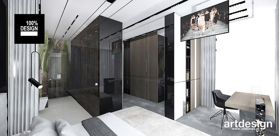 projekty wnętrz design sypialni