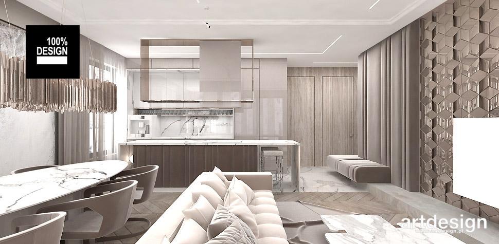 salon z kuchnią aranżacja