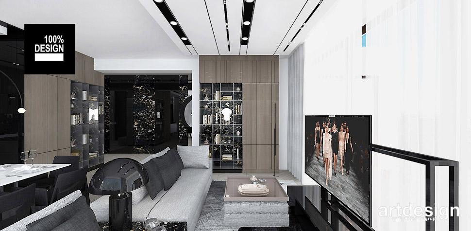 projekt salonu apartament