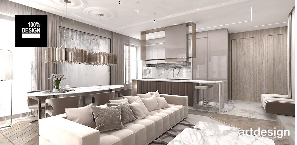 eleganckie mieszkanie wnętrze