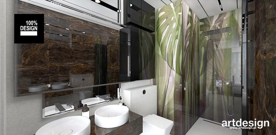 nowoczesna łazienka przy sypialni wnętrze