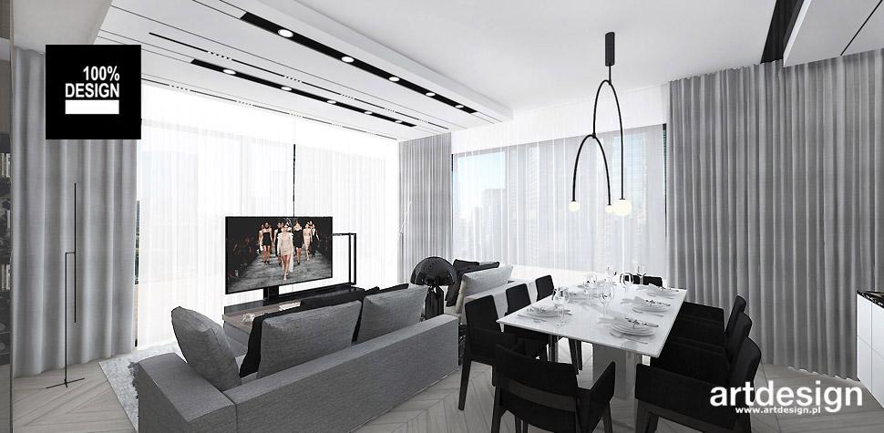 wnętrza nowoczesne minimalistyczne