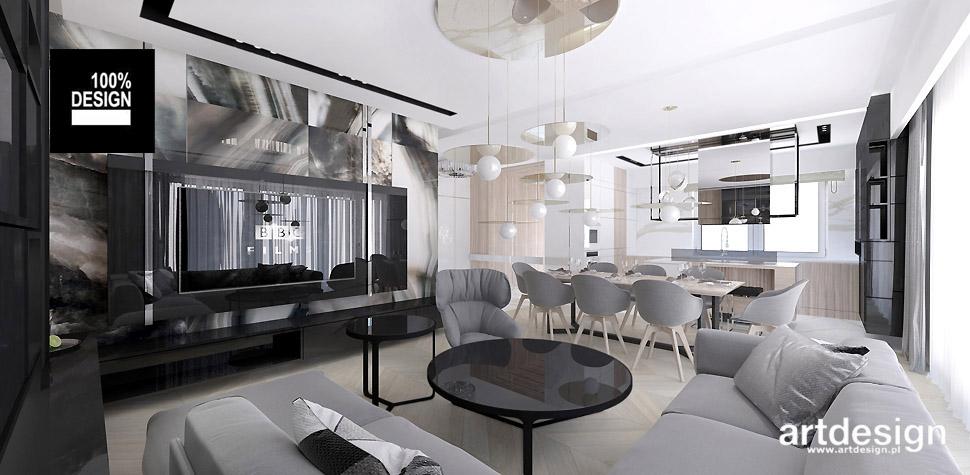 projekty wnętrz nowoczesnego domu