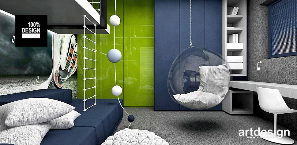 pokój dla dzieci z łóżkiem piętrowym projekty