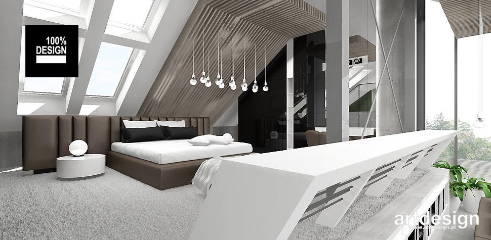 sypialnia na antresoli projekt