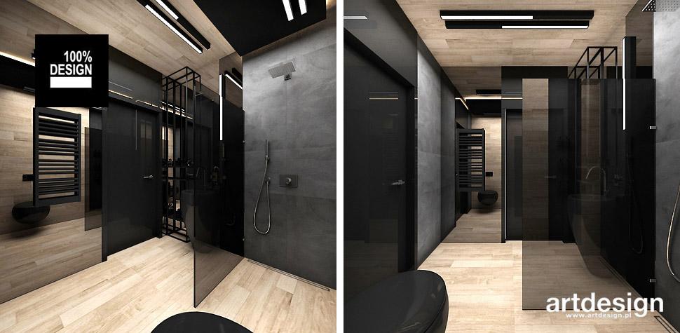 łazienka drewnopodobna projekty wnętrza