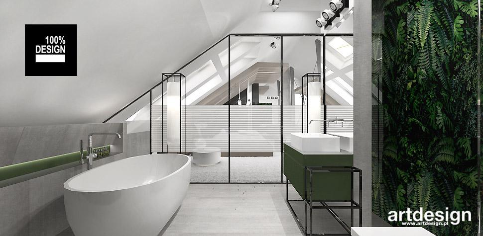 niebanalne projekty łazienek