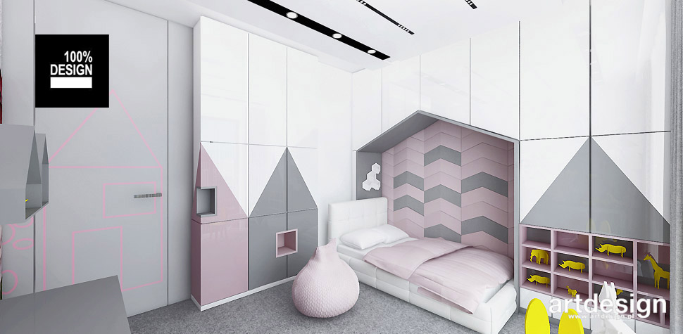 nowoczesne projekty wnętrz pokój dziecka