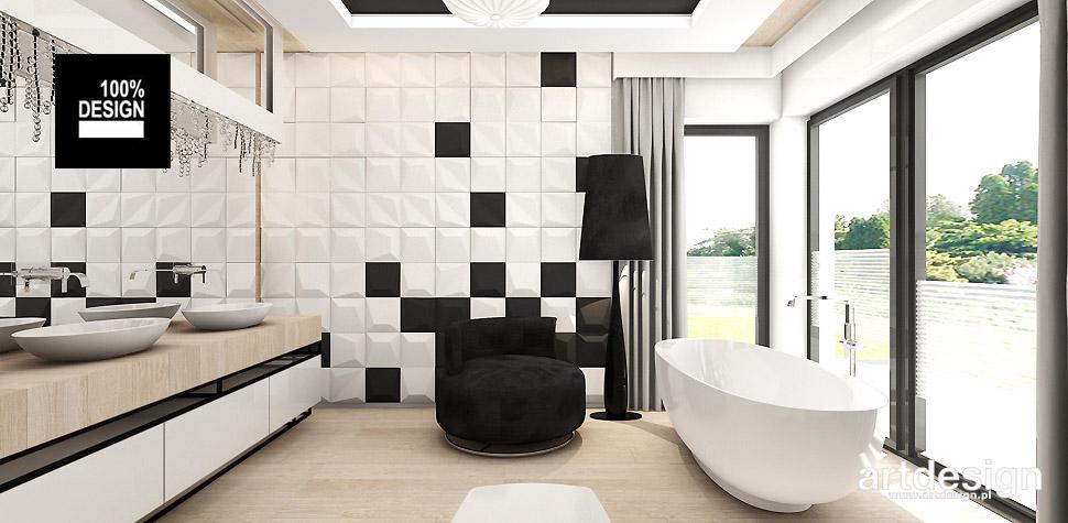 łazienka biała drewno aranżacje wnętrz