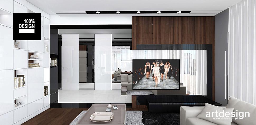 projekt salonu w apartamencie
