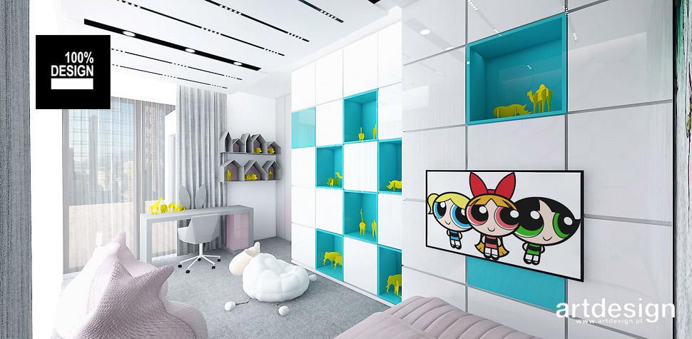 projekty wnętrz pokój dziewczynki