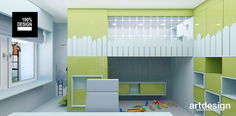 aranżacja wnętrza pokoju dziecka