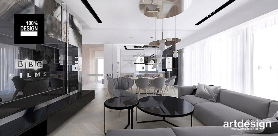 nowoczesny projekt wnętrz domu