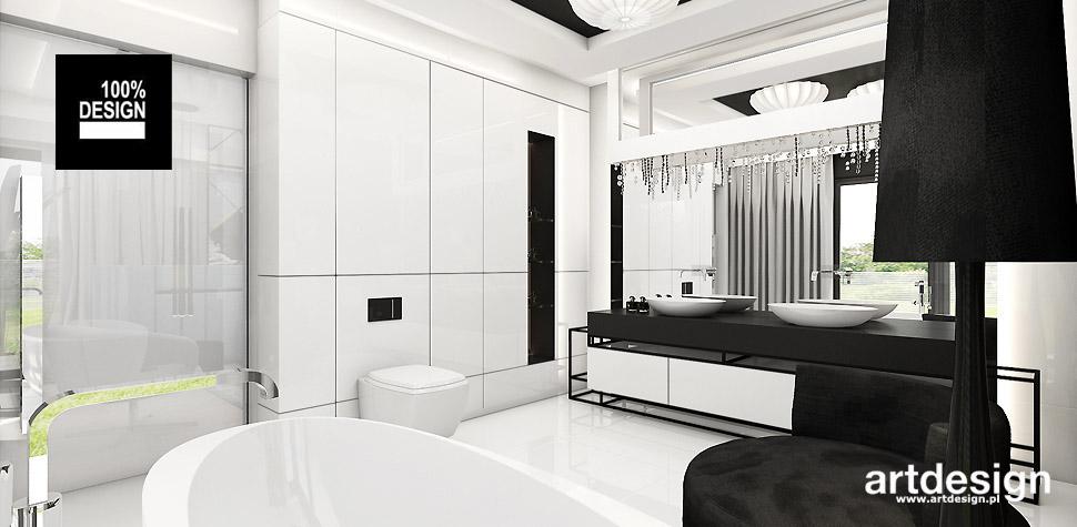 biała nowoczesna łazienka aranżacja