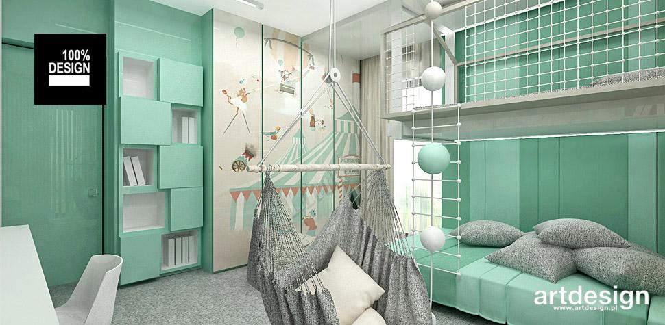 pokój dziecka wnętrza projekty inspiracje