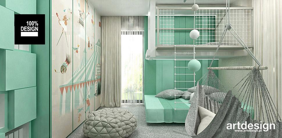 aranżacja pokoju dla dziecka z łóżkiem piętrowym