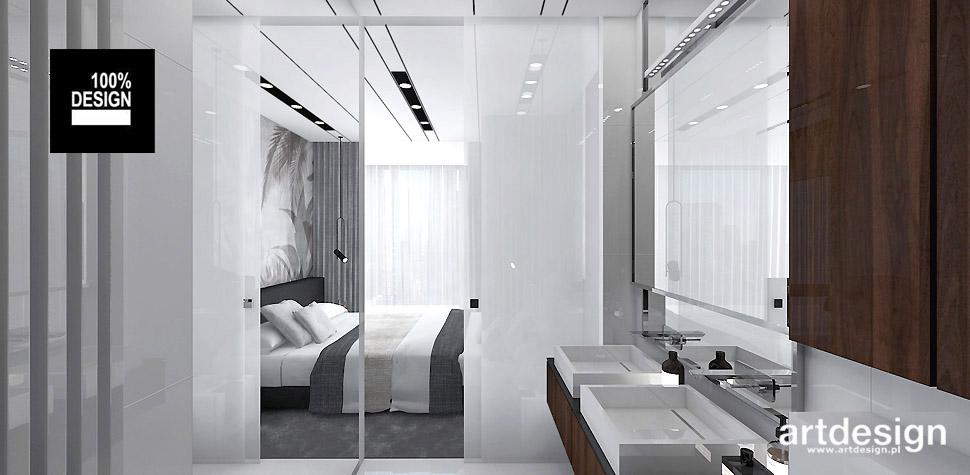 projekty wnętrz sypialni łazienki