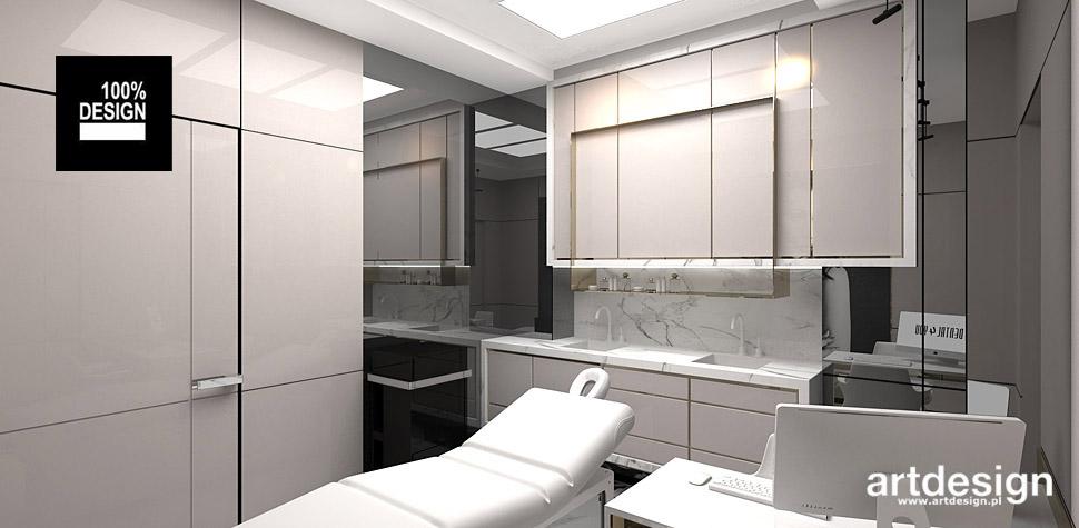 architekt wnętrz projekt klinika gabinety