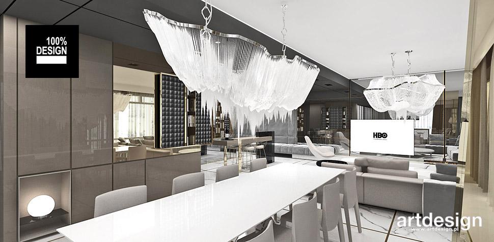 projekt wnętrz nowoczesnego apartamentu