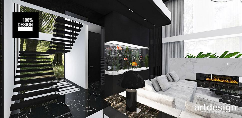 nowoczesny dom schody projekt wnętrza