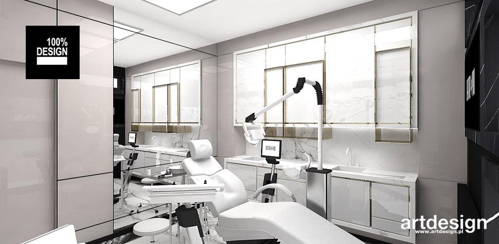 klinika stomatologiczna wnętrze projekt
