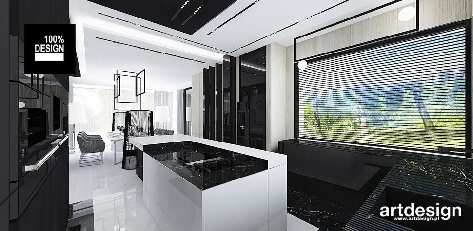 projekt czarno białej kuchni