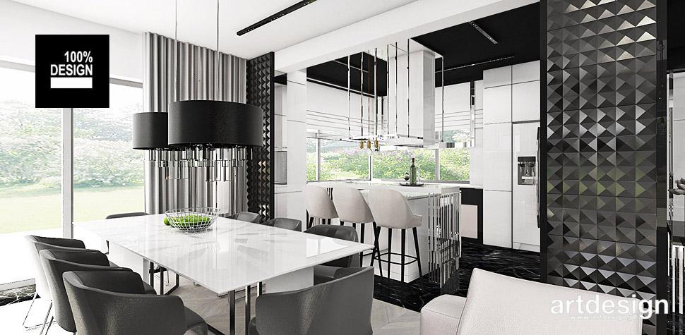 projekt biało czarnej kuchni