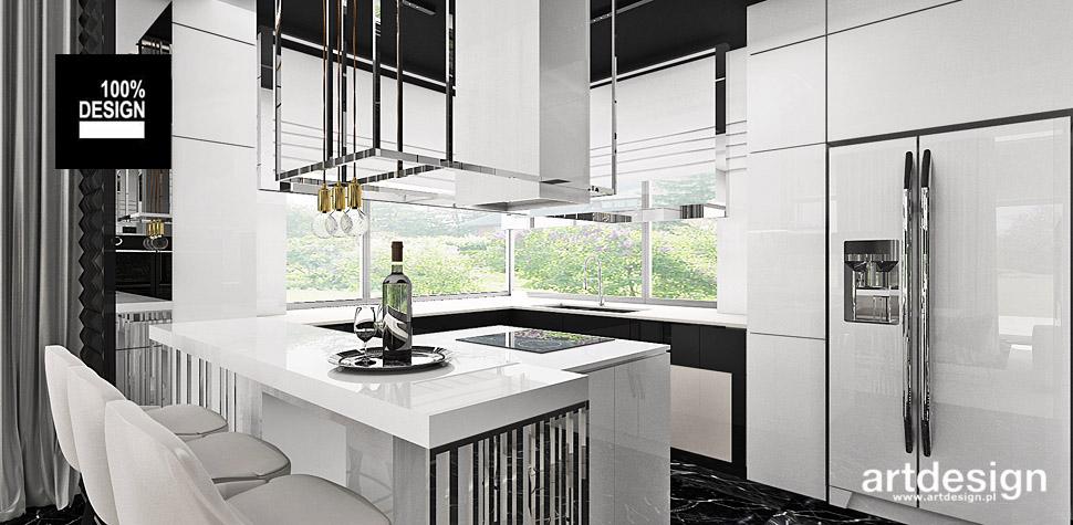 biała kuchnia wnętrza projekty